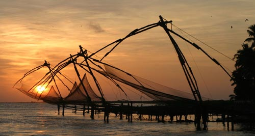 Image result for kochi- chinese fishing night