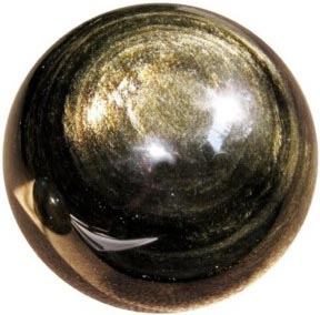 Gold Sheen Obsidian Stone Crystal Meaning Healing